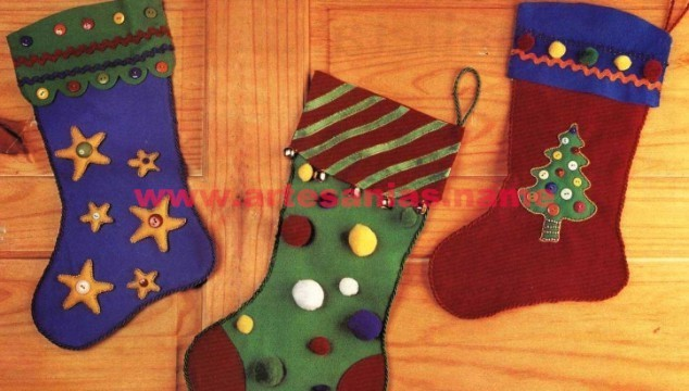 Bota de Navidad en fielto