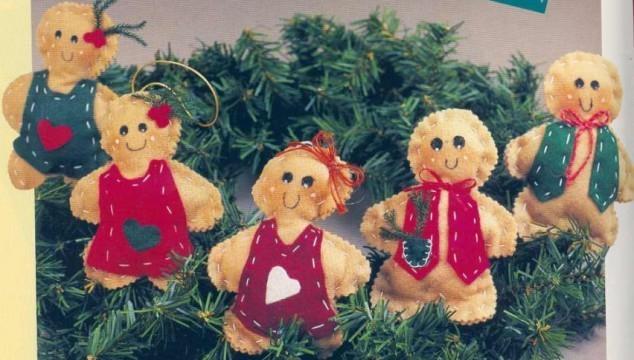 Adorno de Navidad en fieltro