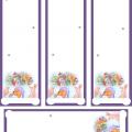 marcador de libros de navidad