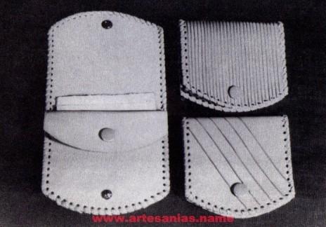 8831d54f4241 Como hacer un monedero de cuero - Artesanias Artesanias