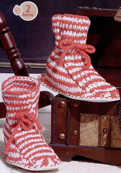 artesanias 010 Como hacer zapatos de lana