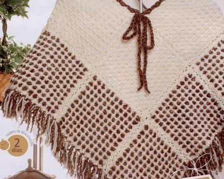 Como hacer un poncho en telar