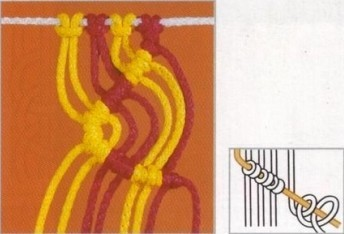 MACRAME GRAFICOS. Nudo-de-macrame-8