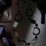 Collar y pulsera bicolor