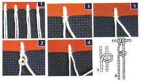 Puntadas básicas del macramé