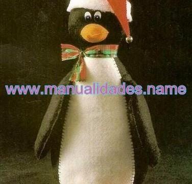 Pingüino de fieltro para Navidad