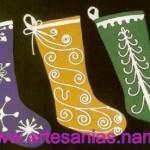 Botas de fieltro para Navidad