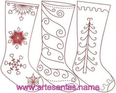 Botas de fieltro para Navidad   Artesanias