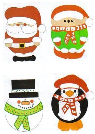 adornos navidad 1 Adornos de Navidad en Foami