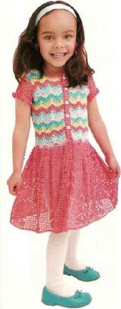 artesanias003 Vestido para niña en crochet