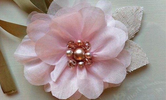 Flor de Tela Artesania Artesanía para hacer una flor de tela