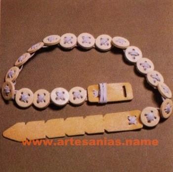Cinturon artesano de modulos redondos