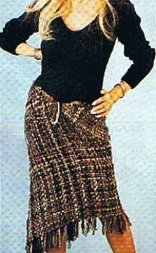 Como hacer una falda con Bastidor Triangular