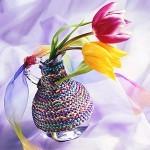 Florero decorado para el dia de la madre