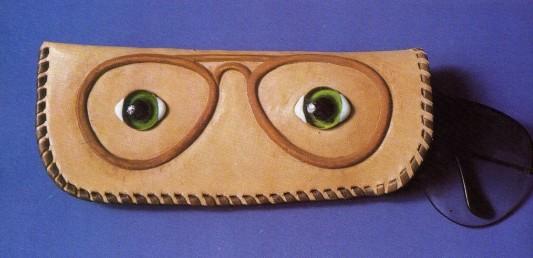 Funda para gafas en cuero artesanal